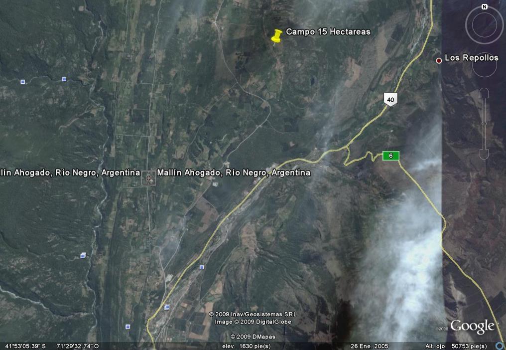 Resultado de imagen para mapa de mallin ahogado el bolson